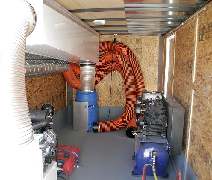H1 Trailer Duct Cleaning Equipment