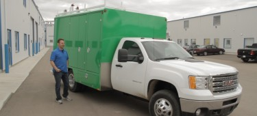 Green H1 Duct Truck